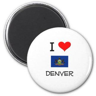 Amo Denver Pennsylvania Imán Redondo 5 Cm