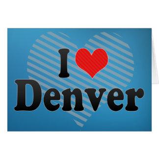 Amo Denver Tarjeta De Felicitación