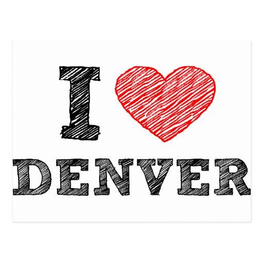 Amo Denver Tarjetas Postales
