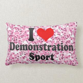 Amo deporte de la demostración almohadas