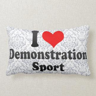 Amo deporte de la demostración almohada