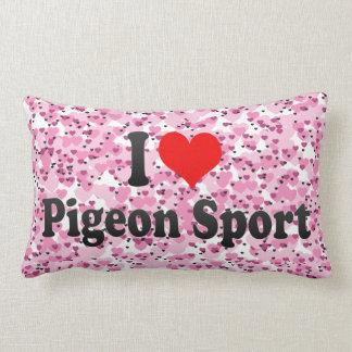Amo deporte de la paloma almohada