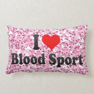 Amo deporte de sangre cojin