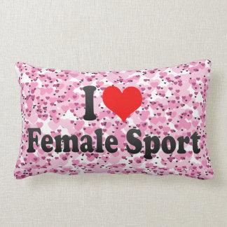 Amo deporte femenino almohadas