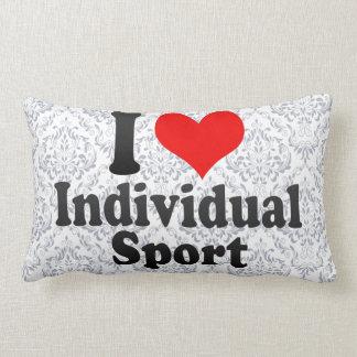Amo deporte individual almohadas