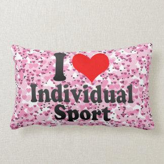 Amo deporte individual cojin