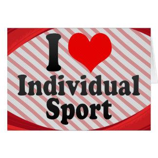 Amo deporte individual tarjeta pequeña