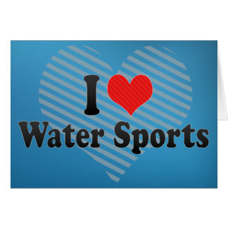 Amo deportes acuáticos tarjeta de felicitación