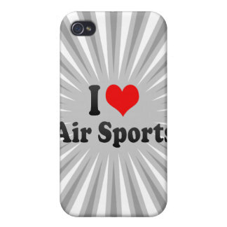 Amo deportes del aire iPhone 4 cárcasa
