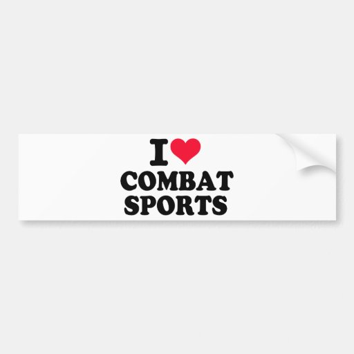 Amo deportes del combate pegatina de parachoque