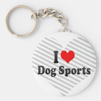 Amo deportes del perro llavero