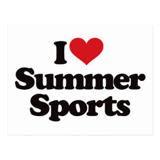 Amo deportes del verano postal