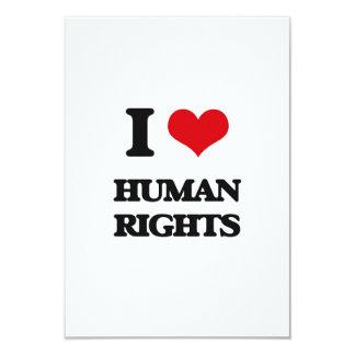 Amo derechos humanos invitación personalizada