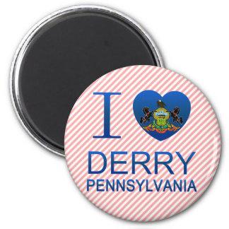 Amo Derry, PA Imanes Para Frigoríficos