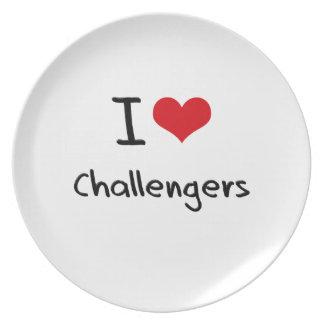 Amo desafiadores platos de comidas