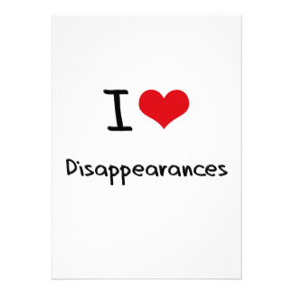 Amo desapariciones invitaciones personalizada