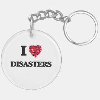 Amo desastres llavero redondo acrílico a doble cara