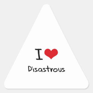 Amo desastroso pegatinas trianguladas personalizadas