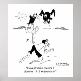 Amo descensos económicos póster
