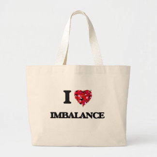 Amo desequilibrio bolsa tela grande