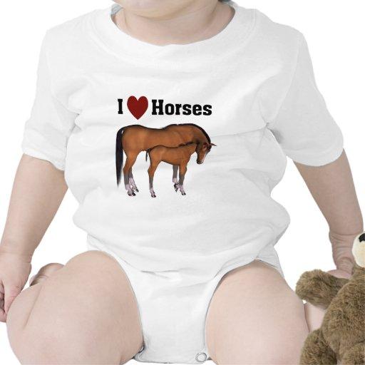 Amo desgaste infantil de los caballos trajes de bebé