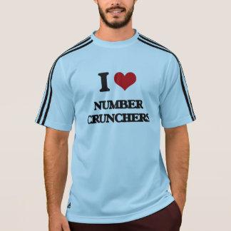 Amo desmenuzadoras de número t-shirt