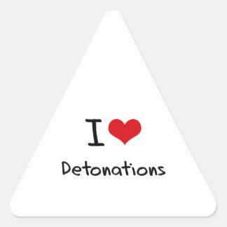 Amo detonaciones pegatina triangular