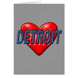 Amo Detroit Tarjeta Pequeña