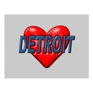 Amo Detroit Tarjeta Postal