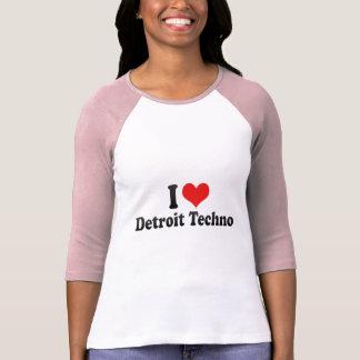 Amo Detroit Techno Camisetas