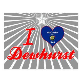 Amo Dewhurst, Wisconsin Tarjeta Postal