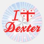 Amo Dexter, Georgia Etiquetas Redondas