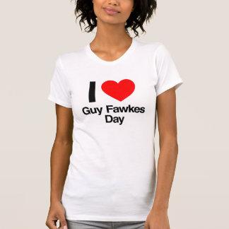 amo día de los fawkes del individuo camiseta