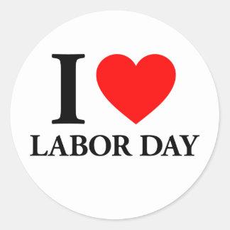 Amo Día del Trabajo Pegatina Redonda