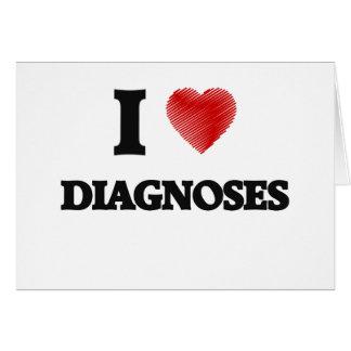 Amo diagnosis tarjeta de felicitación