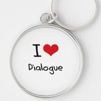 Amo diálogo llavero personalizado