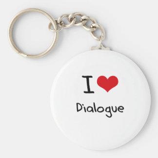 Amo diálogo llaveros personalizados