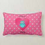 Amo diamantes rosados de los búhos almohada