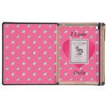 Amo diamantes rosados de los búhos iPad coberturas