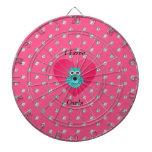 Amo diamantes rosados de los búhos tabla dardos