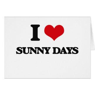 Amo días soleados tarjeta de felicitación