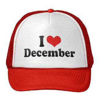 Amo diciembre gorras de camionero