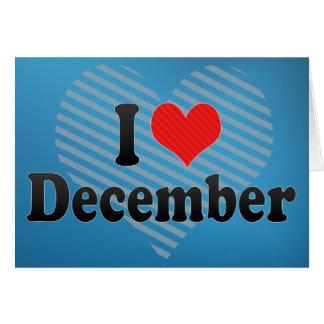 Amo diciembre tarjeta de felicitación