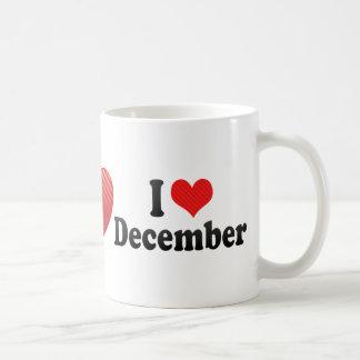Amo diciembre taza