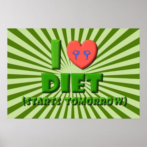 Amo dieta póster