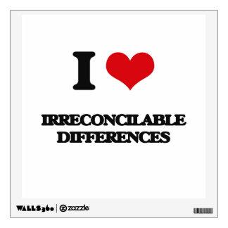 Amo diferencias irreconciliables