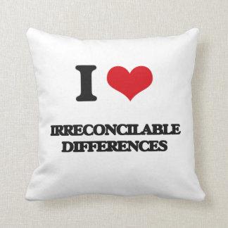 Amo diferencias irreconciliables almohada