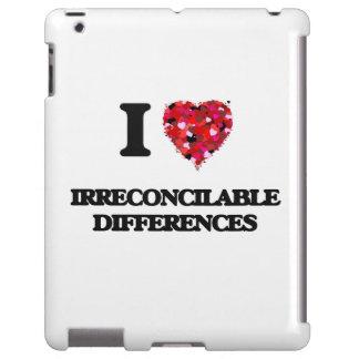 Amo diferencias irreconciliables funda para iPad