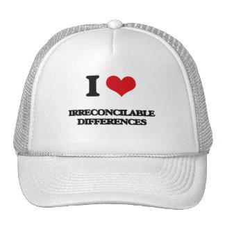 Amo diferencias irreconciliables gorras
