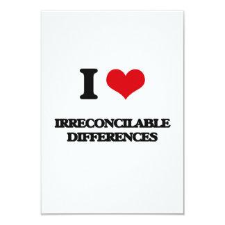 Amo diferencias irreconciliables invitación 8,9 x 12,7 cm
